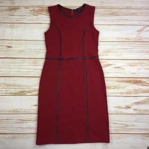 Talbots Red Sleeveless Bodycon Sheath Dress